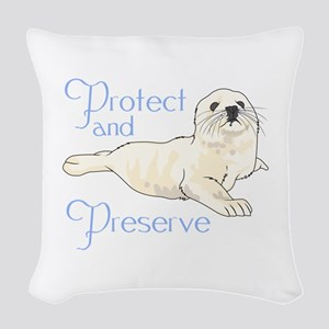 PROTECT AND PRESERVE Woven Throw Pillow