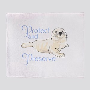 PROTECT AND PRESERVE Throw Blanket