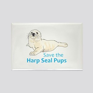 SAVE THE HARP SEAL PUPS Magnets