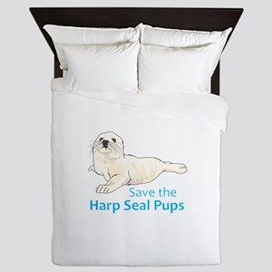 SAVE THE HARP SEAL PUPS Queen Duvet