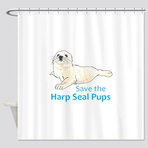 SAVE THE HARP SEAL PUPS Shower Curtain