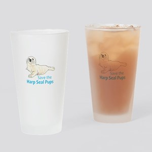 SAVE THE HARP SEAL PUPS Drinking Glass