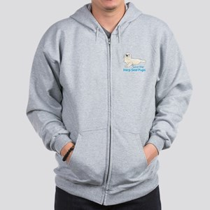 SAVE THE HARP SEAL PUPS Zip Hoodie