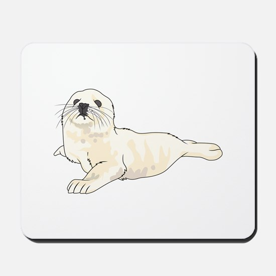 HARP SEAL PUP Mousepad