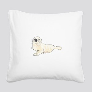 HARP SEAL PUP Square Canvas Pillow