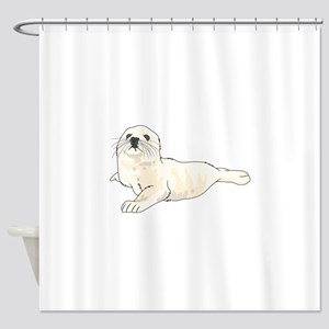 HARP SEAL PUP Shower Curtain