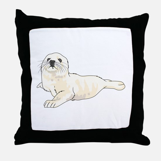 HARP SEAL PUP Throw Pillow