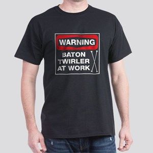 WARNING Baton Twirler Dark T-Shirt