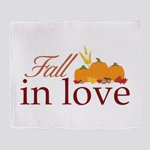fall in love Throw Blanket