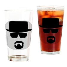 White - Heisenberg Sillouette Drinking Glass