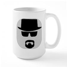 White - Heisenberg Sillouette Large Mug