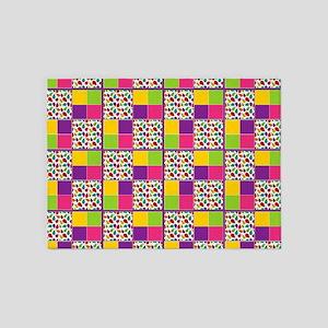 Ladybug Multi-Color Twin Duvet 5'x7'Area Rug
