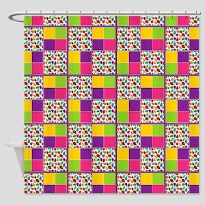 Ladybug Multi-Color Twin Duvet Shower Curtain