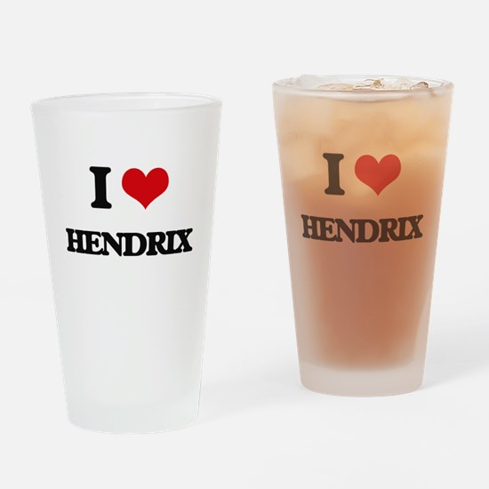 I Love Hendrix Drinking Glass