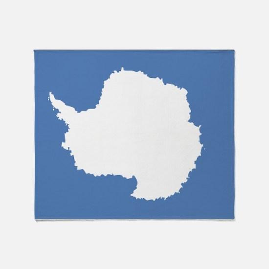 Antarctic flag Throw Blanket