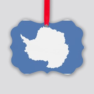 Antarctic flag Picture Ornament