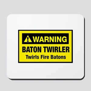 Twirls Fire Batons Mousepad