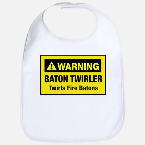 Twirls Fire Batons Bib