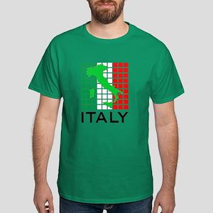 italy flag 03 Dark T-Shirt