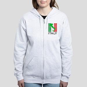 italy flag 03 Women's Zip Hoodie
