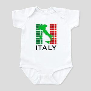 italy flag 03 Infant Bodysuit