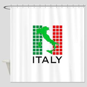 italy flag 03 Shower Curtain