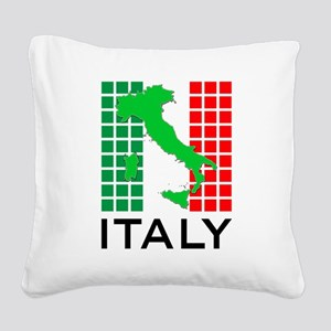 italy flag 03 Square Canvas Pillow