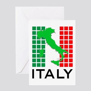 italy flag 03 Greeting Card