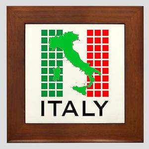 italy flag 03 Framed Tile
