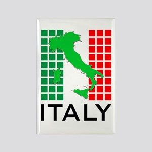 italy flag 03 Rectangle Magnet