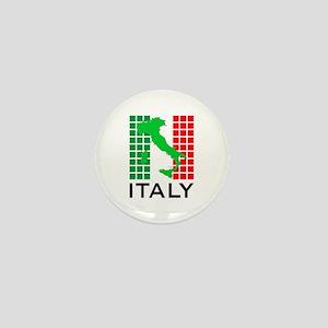 italy flag 03 Mini Button