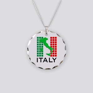 italy flag 03 Necklace Circle Charm
