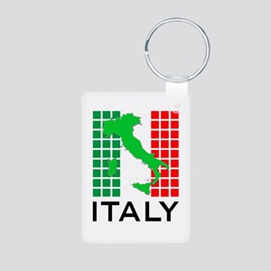italy flag 03 Aluminum Photo Keychain