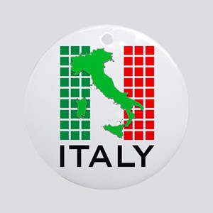italy flag 03 Ornament (Round)