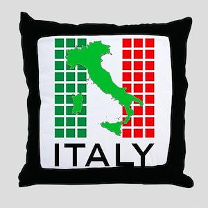 italy flag 03 Throw Pillow