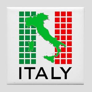 italy flag 03 Tile Coaster