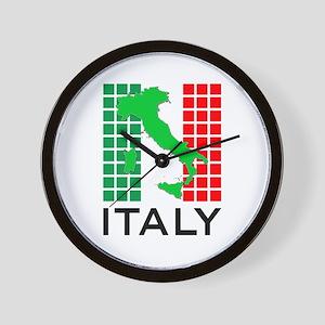 italy flag 03 Wall Clock