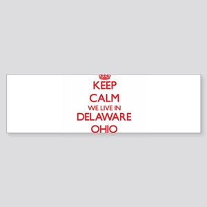 Keep calm we live in Delaware Ohio Bumper Sticker