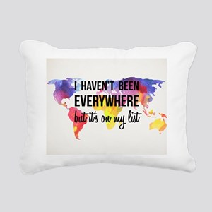 Travel Quote Rectangular Canvas Pillow