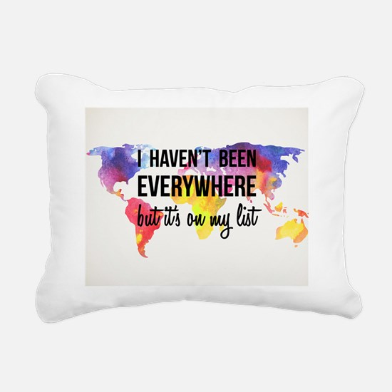 Travel Quote Rectangular Canvas Pillow