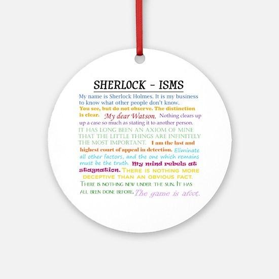 Sherlock-isms Ornament (Round)