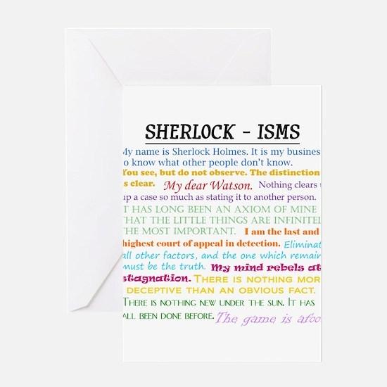 Sherlock-isms Greeting Cards
