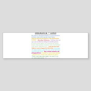 Sherlock-isms Bumper Sticker