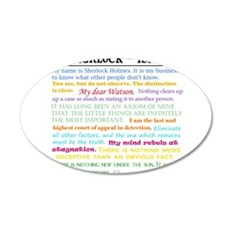 Sherlock-isms Wall Decal