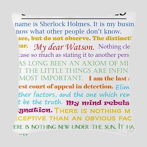 Sherlock-isms Woven Throw Pillow
