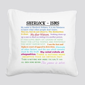 Sherlock-isms Square Canvas Pillow