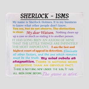 Sherlock-isms Throw Blanket