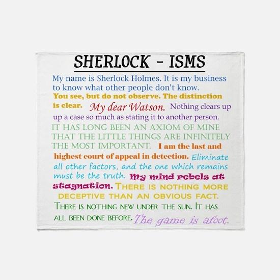 Sherlock-isms Throw Blanket