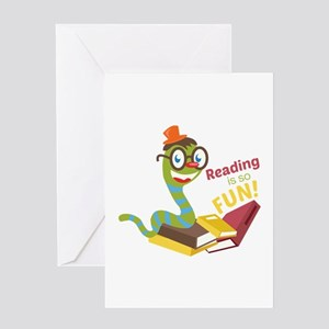 Reading is so fun Greeting Cards