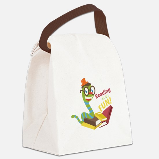 Reading is so fun Canvas Lunch Bag